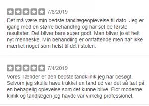 review dentist - danish tandlæge bedømmelser